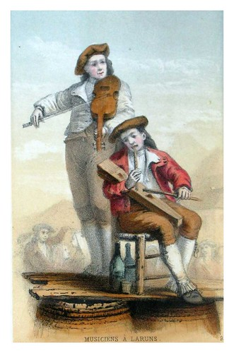 011-Musicos en Laruns-Costumes pyrénéens-1860