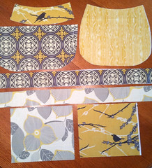 Madeleine: fabrics cut