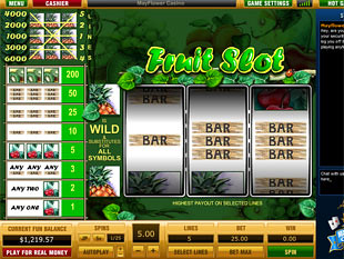 Fruit Slot 5 Lines slot game online review