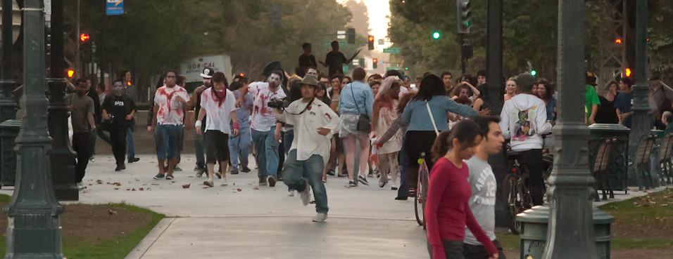 Zombie swarm!