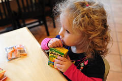 Juice (nateOne) Tags: 35mm restaurant toddler schnivic dottie iso1600 35mmf14 nikond700 160secatf40 focusdistance530mm