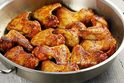 香料雞翅和香酥球芽甘藍-110907