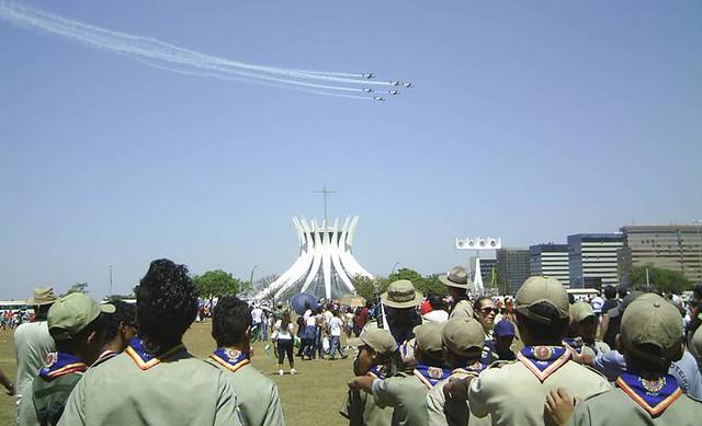 Sete de Setembro em Brasília. Foto: Neco Ney
