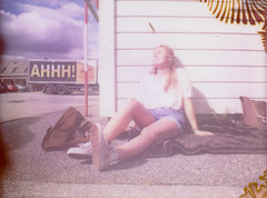 Ahhh! (Nick Today) Tags: summer sun film girl diana f instant bergen ahh instax