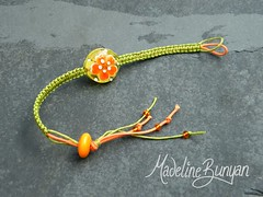 "Macrame Bracelet with flower lentil • <a style=""font-size:0.8em;"" href=""https://www.flickr.com/photos/37516896@N05/6127898636/"" target=""_blank"">View on Flickr</a>"
