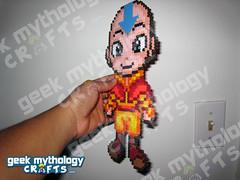 Geek Mythology Crafts Chibishou 2.0 Bead Sprite Aang (Geek Mythology Crafts) Tags: videogames pixelart 8bit hamabeads perlerbeads geekcraft beadsprite nabbibeads