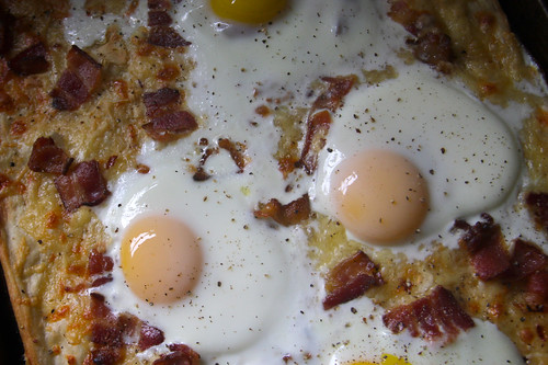 eggs on pizza!