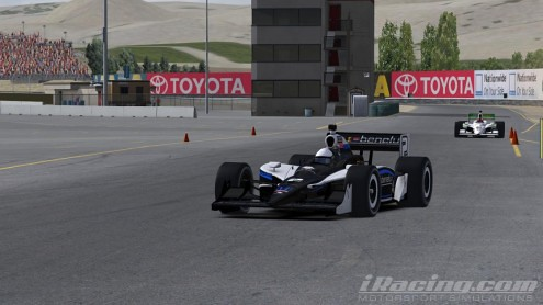 Yang Ou on-track at Infineon Raceway