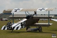 G-CDXR - PFA 238-14043 - Private - Fokker DR.1 Triplane Replica - 110710 - Duxford - Steven Gray - IMG_6770