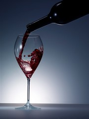 Wine (OsakaWayne) Tags: glass wine stock whitebackground getty studioshot wineglass redwine splash winebottle pour