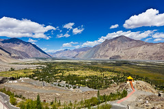 View from Diskit Monastery (Anoop Chinnan) Tags: mountains canon monastery 1022 ladakh