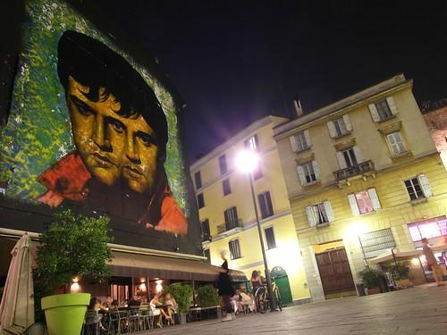 Elvis Presley & Napoleon Wall Mural in Milan, Italy