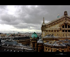 Opera Garnier, outside (Yolanda Miel) Tags: city roof sky cloud paris france canon dance opera europe danse ciel nuage garnier toit ville ballerine eos450d doublyniceshot doubleniceshot mygearandme mygearandmepremium yolandamiel yofromparis