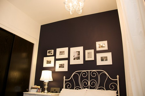 Master Navy Wall with Frames