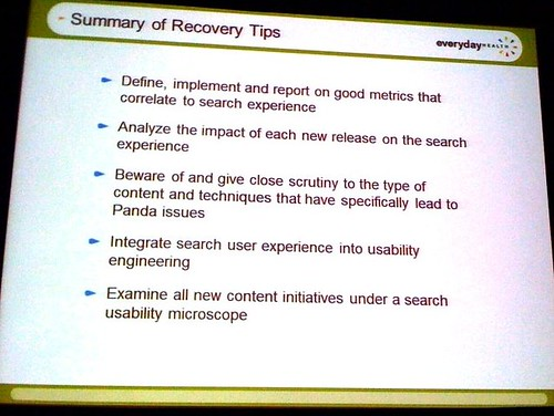 Summary of Recovery Tips