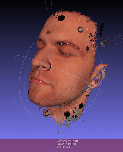 Head scan with photo texture