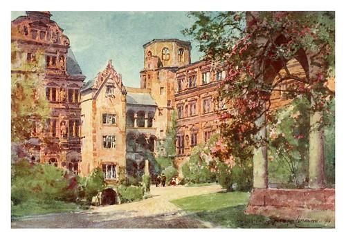 004-Patio del castillo de Heidelberg-Germany-1912- Edward y Theodore Compton ilustradores