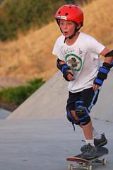 The New Thing (BigSkyKatie) Tags: park boy playing outside child skateboarding board missoula riding skate tween adolescent redhelmet wristguard kneeguard mobash gettyfamily elbowguard katielasallelowery wearinghelmet gettyfamily2011