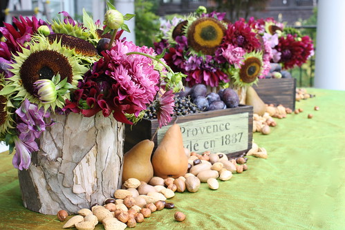 Purple and green Fall table