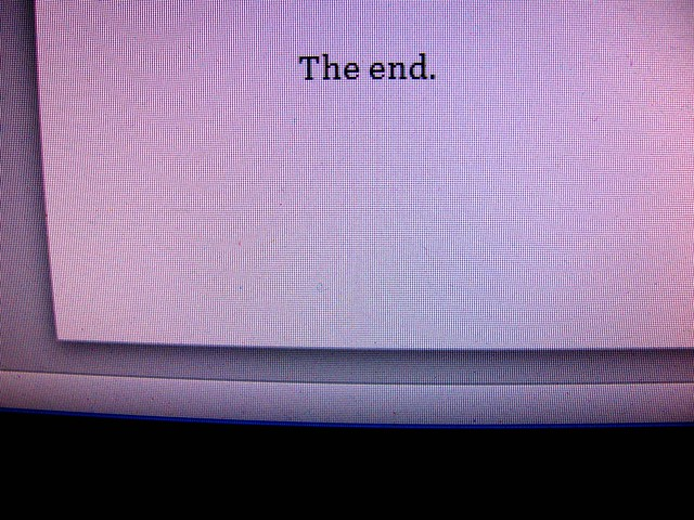 The novel is finished.