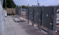 college solar installation pv carport deanza