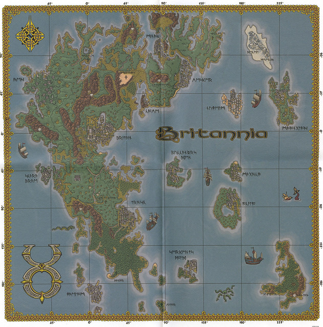 Ultima Online: The Second Age - Map of Britannia