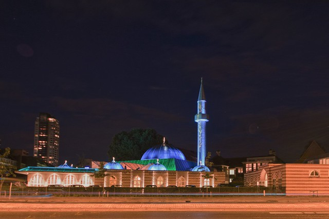 mosque at night