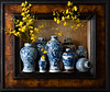Still Life Chinese Jars and Dancing Lady Orchids (kevsyd) Tags: stilllife dancingladyorchid 645d chinesejars kevinbest