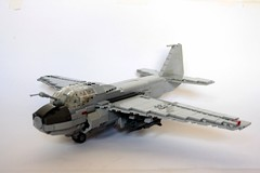 A-6E Intruder (Babalas Shipyards) Tags: scale plane lego aircraft military navy aeroplane airforce bomber a6 intruder minifigure