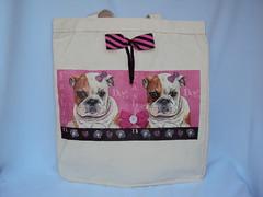 Eco Bag pet fashion (Cia Ateliê) Tags: pet cachorro feltro eco decoupage ecobag aplicação sacola customização