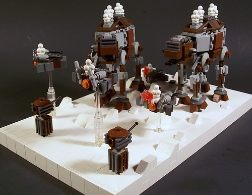 (micro) Steampunk Walkers Attack 2
