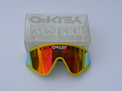 3a26b4dbec Oakley Eyeshade Factory Pilot Grey Yellow+Fire Iridium vented