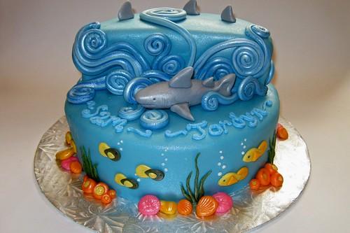 Ocean/Shark Cake by Cake Maniac