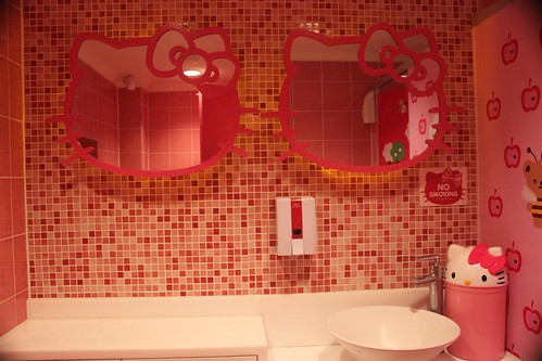 Hello Kitty Cafe washroom for ladies in Seoul South Korea