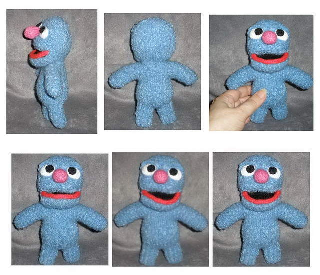 Grover mugging in mug shots collage