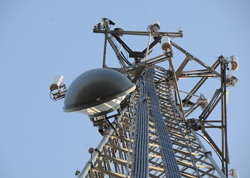A cell tower helps provide Internet access to the nearly 1,200 farms in Comanche County, OK. (Data Source: 2007 Census of Agriculture)