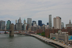 View of New York City (allicette) Tags: city bridge urban newyork building cars brooklyn buildings skyscrapers traffic manhattan fdr torres allicette allicettetorres