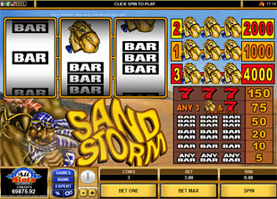Sand Storm slot game online review