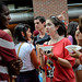College of Design students enjoy Howling Cow ice cream during their Wolfpack Welcome event.