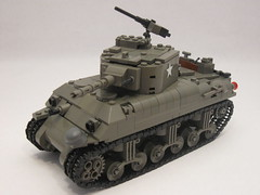 "M4A1 Sherman- Tank Overhaul (""Rumrunner"") Tags: world 2 war tank lego wwii american ww2 ww division armored 3rd sherman worldwar2 allies m4a1 brickarms brickmania"