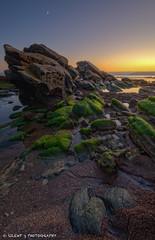 Moon's Moon (Silent G Photography) Tags: ocean california ca sunset vertical moss rocks pacific pismobeach hdr highdynamicrange highway101 shellbeach markgvazdinskas silentgphotography