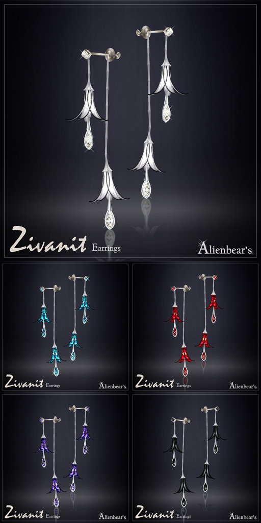 Zivanit earrings white