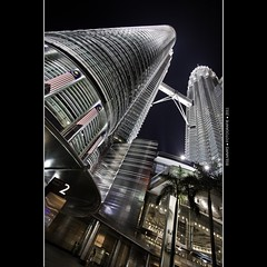 Malaysia: Back from little Asia [Explored] (Bas Lammers) Tags: light night wideangle malaysia twintowers kualalumpur kl klcc petronastowers canon50d