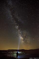 Contemplating the Milky Way (Carlos J. Teruel) Tags: longexposure espaa nikon nightshot autoretrato paisaje murcia cielo estrellas nocturna 28 nocturnas milkyway d300 6400 2011 vialactea esyre tokina1116 xaviersam