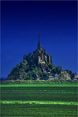 [フリー画像] 建築・建造物, 宮殿・城, モン・サン=ミシェル, 世界遺産, フランス, 201108240100