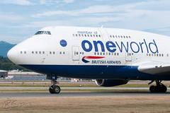 G-CIVK - Oneworld (British Airways) - Boeing 747-436 (bcavpics) Tags: canada vancouver plane airplane britishcolumbia aviation boeing yvr britishairways 747 airliner oneworld gcivk bcpics
