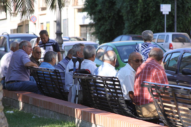 True to the classic Mediterranean scenario, men are remarkably more visible in the streets than women...