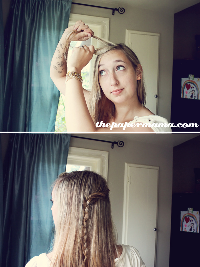 Simple Twist Cascade Braid Hair Tutorial The Paper Mama