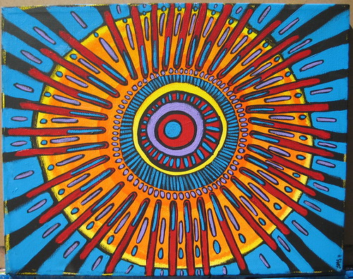 Bang! Original Mandala Painting Transformative Art