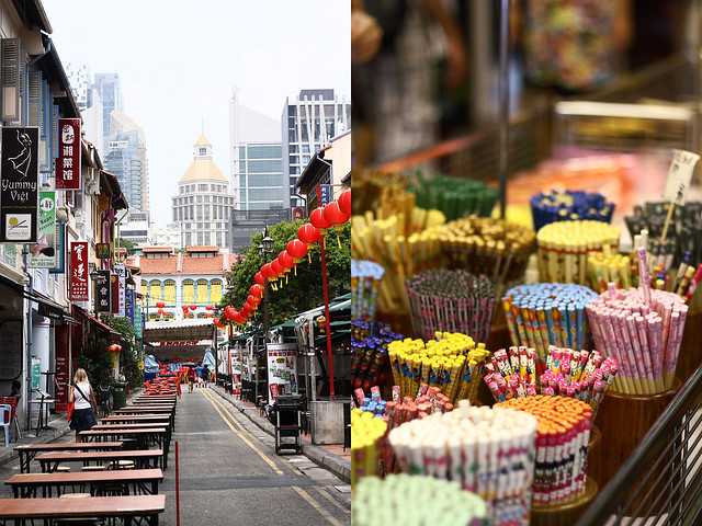 Chinatown Street and Chopstick Stand